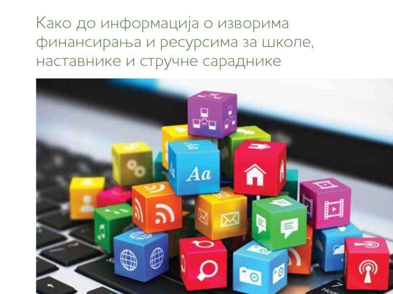 Vodič: Kako do informacija o izvorima finansiranja i resursima za škole, nastavnike i struč