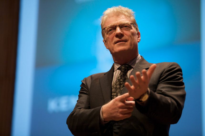 Ken Robinson at the Creative Company Conference, Amsterdam in 2009.